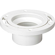 Mueller 05251 3 In. X 4 In. PVC Closet Flange W/Pipe Stop Adjustable W/Plastic Ring - Hub