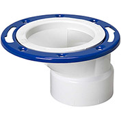 Mueller 05920 4 In. X 3 In. PVC Offset Closet Flange Adjustable W/Metal Ring Epoxy Coated - Hub