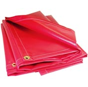 12' X 18' Flame Retardant Salvage Cover, 13 oz. Vinyl Red - DAR-SAL-02-1218