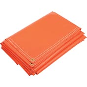 6' X 8' Super Heavy Duty 18 oz. Vinyl Coated Tarp, Orange - VTC-18-07-0608