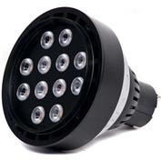 Moon Visions 14W 3.5K SP 12VBR30-U-HGT 14W 12V Warm White Spot LED Uplight-Hartford Green Texture