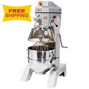 Axis AX-M40 Planetary Mixer, 40 Quart, 3 Speed, Gear Driven, Stainless Steel Bowl, Digital Timer