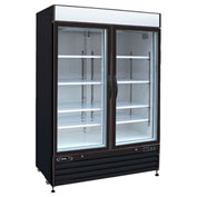 "Kool-It KGF-48 - Freezer Merchandiser, 48 Cu. Ft., 2 Glass Doors, Black, 79-1/2""H x 54""W"