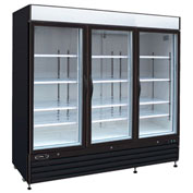 "Kool-It KGF-72 - Freezer Merchandiser, 72 Cu. Ft., 3 Glass Doors, Black, 79-1/2""H x 81""W"