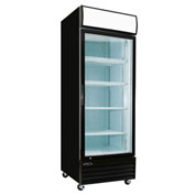 "Kool-It KGM-23 - Refrigerated Merchandiser, 1 Glass Door, 23 Cu. Ft., Black, 81""H x 27""W, 115V"