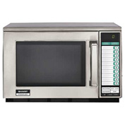 Sharp R-22GTF - Commercial Microwave Oven, Heavy Duty, 1200W, .07W, Stainless Steel