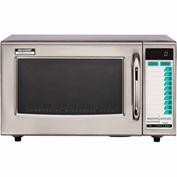 Sharp R-21-LTF - Commercial Microwave Oven, Medium Duty, 1000W, 1.0 Cu. Ft., Stainless Steel
