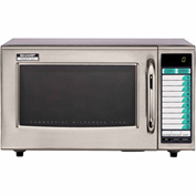 Sharp R-21-LVF Commercial Microwave Oven, Medium Duty, 1000W, 1.0 Cu. Ft., Stainless Steel