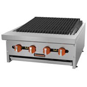 "Sierra Range SRCB-24 Charbroiler, 24""W, 4 Burners, 16,000 BTU Each, Stainless Steel, Rock..."