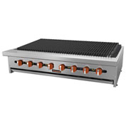 "Sierra Range SRCB-48 Charbroiler, 48""W, 8 Burners, 16,000 BTU Each, Stainless Steel, Rock..."