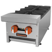 "Sierra Range SRHP-2-12 Hot Plate, 12""W, 2 Burners, 30,000 BTU Each, Manual Controls,..."