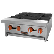 "Sierra Range SRHP-4-24 Hot Plate, 24""W, 4 Burners, 30,000 BTU Each, Manual Controls,..."