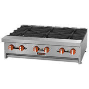 "Sierra Range SRHP-6-36 Hot Plate, 36""W, 6 Burners, 30,000 BTU Each, Manual Controls,..."