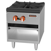 Sierra Range Stock Pot Range SRSP-18, 90,000 BTU, 1 Burner, Stainless Steel, Dual Controls