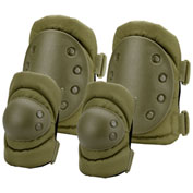 Barska Loaded Gear CX-400 Elbow and Knee Pads BI12280 OD Green