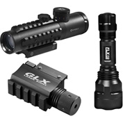 Barska® DA12190 4x30 IR Electro Sight w/GLX Green Laser and 210 Lumen LED Flashlight Combo Set