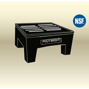 "MasonWays™ 182212 HDAM PolyMight Dunnage Rack W/Anti-microbial protection 18""W x 22""D x 12""H - Pkg Qty 2"