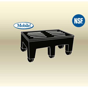 "MasonWays™ 182216 HDC PolyMight Dunnage Rack W/Casters 18""W x 22""D x 12""H, 750 Lbs. Capacity - Pkg Qty 4"