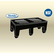 "MasonWays™ 362216 HDC PolyMight Dunnage Rack W/Casters 36""W x 22""D x 12""H, 1200 Lbs. Capacity"