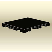 "MasonWays™ 42306 Display Base Pallet Spot Merchandiser 42""W x 23""D x 6""H Black"