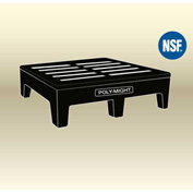 "MasonWays™ 482212 HDAM PolyMight Dunnage Rack W/Anti-microbial Protection 48""W x 22""D x 12""H"