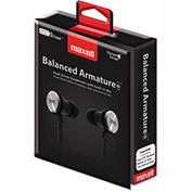 Maxell® Ba-1 Balanced Armature Earphones w/ In-Line Mic, Black