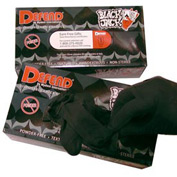 Blackjack Tattoo Powder-Free Textured Latex Gloves - M, 100/Box