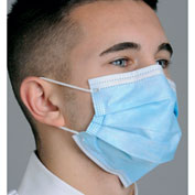 Pleated Earloop Mask E-Z - Blue, 50/Box