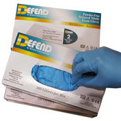 Powder-Free Nitrile Textured Exam Gloves - M, 100/Box