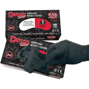 Defend® Blackjack Tattoo Powder-Free Textured Nitrile Gloves, M, 100/Box