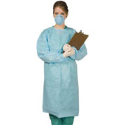 "Disposable Tie-Back Protective Gown 48""L, 10/Pack"