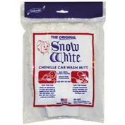 Snow White Wash Mitts - Chenille - Min Qty 10