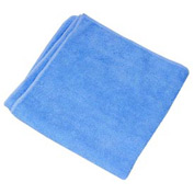 Blue Terry Plush Microfiber Towel - Min Qty 10