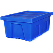 "Myton Bulk Shipping Poly Container MTA-2 With Lid 38-1/2""L x 26""W x 16""H, Blue"