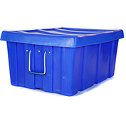 "Myton Bulk Shipping Poly Container MTL-2 With Lid 31""L x 22""W x 15""H, Black"