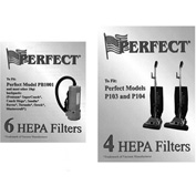 Perfect Products HEPA Filter, White 4/Pack - VAC7 - Pkg Qty 4