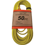 Perfect Products 50' 14/3 300 Volt Insulated Extension Cord Yellow - CD7210Y