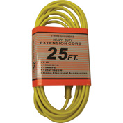 Perfect Products 25' 16/3 300 Volt Insulated Extension Cord W/ Lighted Ends Yellow - CD7225Y