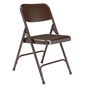 Premium All-Steel Folding Chair - Brown - Pkg Qty 4