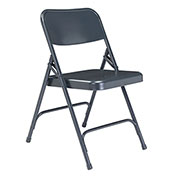 Steel Folding Chair - Premium with Double Brace - Blue - Pkg Qty 4