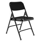 Steel Folding Chair - Premium with Double Brace - Black - Pkg Qty 4