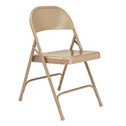 Steel Folding Chair - Standard - Beige - Pkg Qty 4