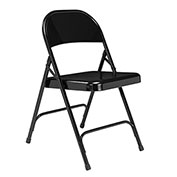 Steel Folding Chair - Standard - Black - Pkg Qty 4