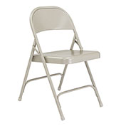 Steel Folding Chair - Standard - Gray - Pkg Qty 4