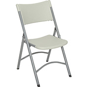Blow Molded Resin Folding Chair - Speckled Gray Plastic/Textured Gray Frame - Pkg Qty 4