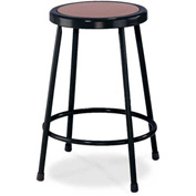 "NPS Heavy Duty Stool - Round - Hardboard - 24""H - Black"