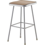 "NPS Heavy Duty Stool - Square - Hardboard - 30""H - Gray"