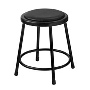 "18"" Vinyl Padded Stool - Backless - Black"