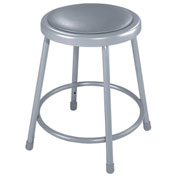 "18"" Vinyl Padded Stool - Backless - Gray"