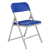 Plastic Folding Chair - Blue Seat/Gray Frame - Pkg Qty 4